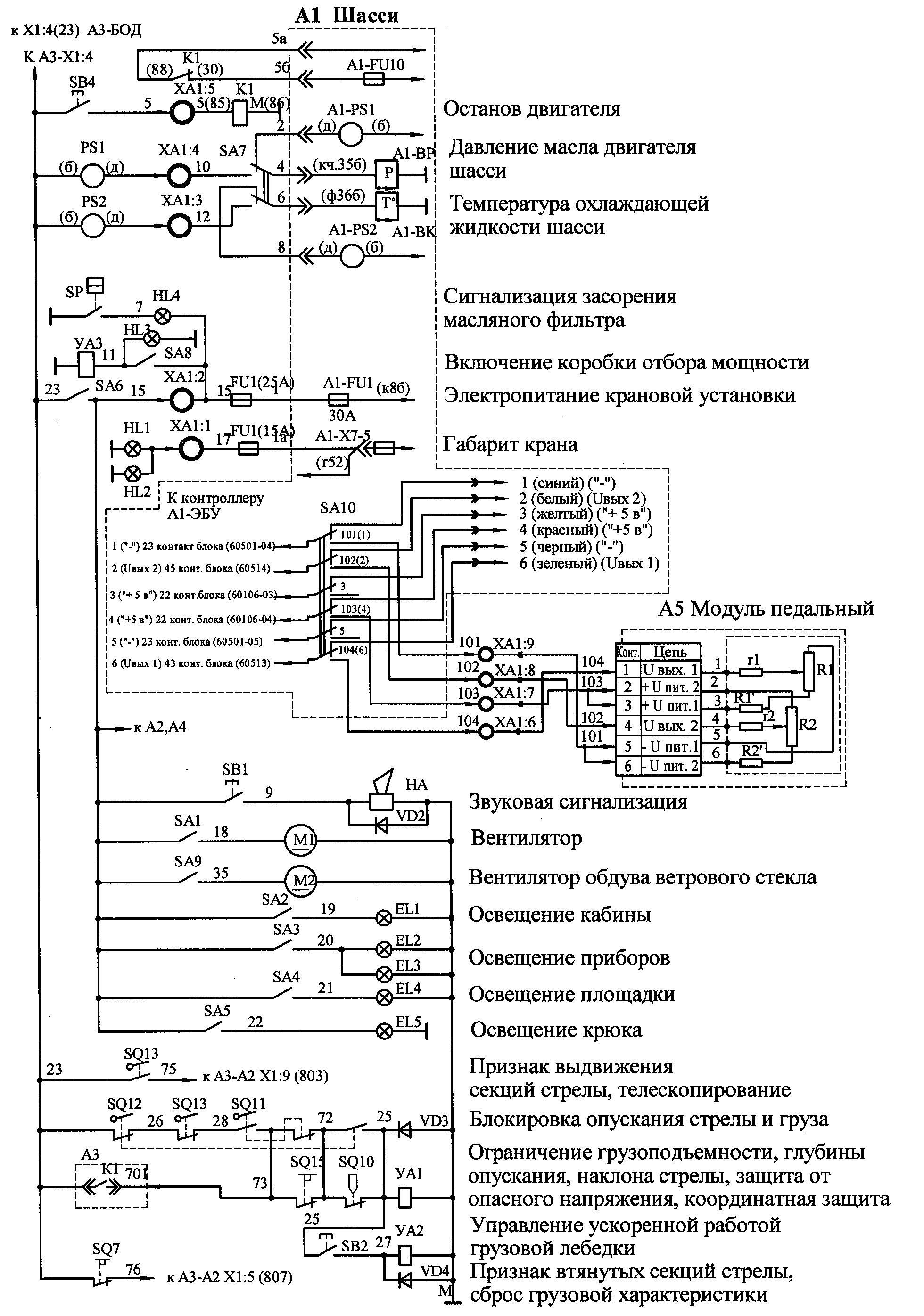электрическая схема на кран кс 4561