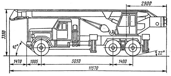 Схема автомобильного крана